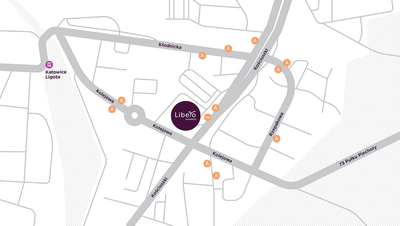 Mapa dojazdu do Galerii