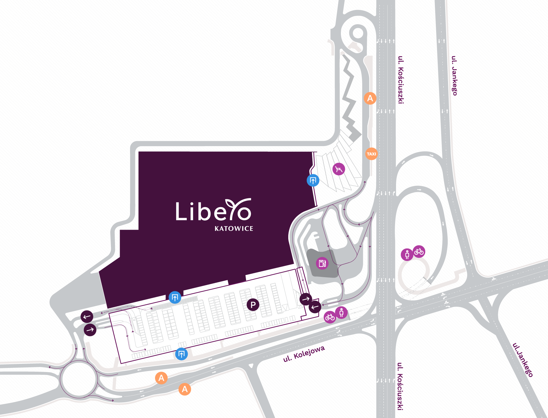 Grafika lokalizacji Galerii Libero