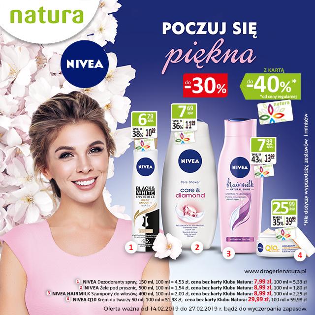 Nivea wDrogeriach Natura już do-40%!