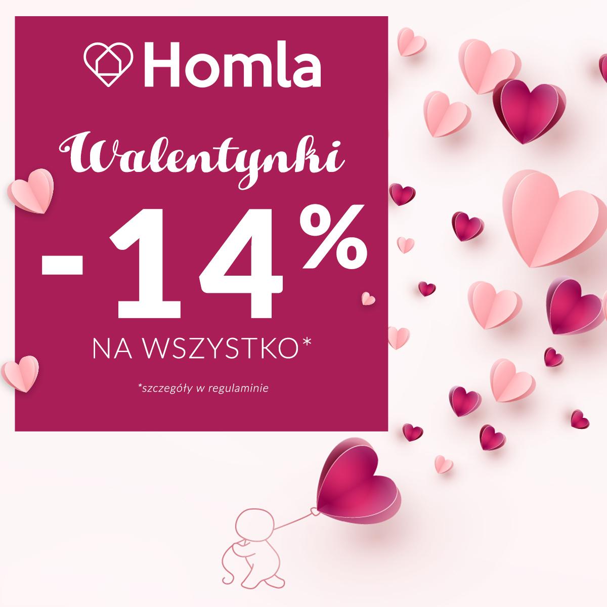 Walentynkowa promocja wHomla -14%