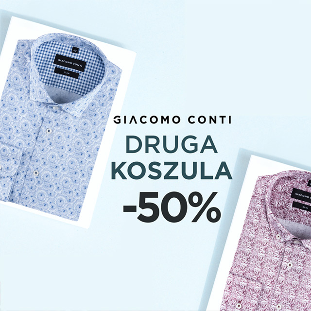 Druga koszula -50%!
