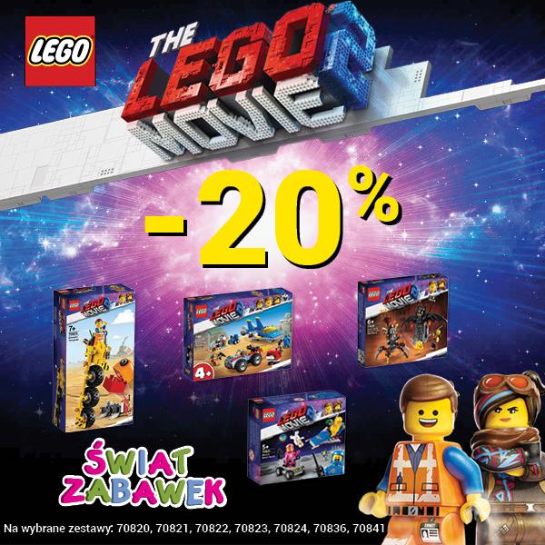 Zestawy Lego Movie 20% taniej w Świat Zabawek
