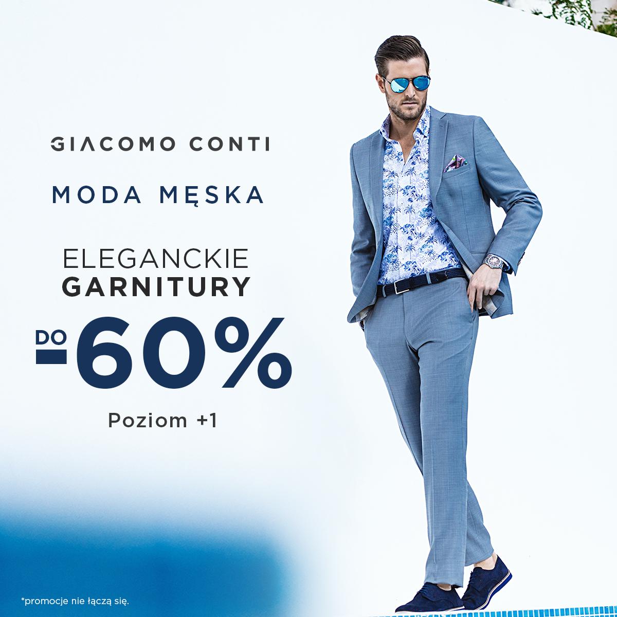 Ekskluzywne garnitury do -60% w Giacomo Conti!