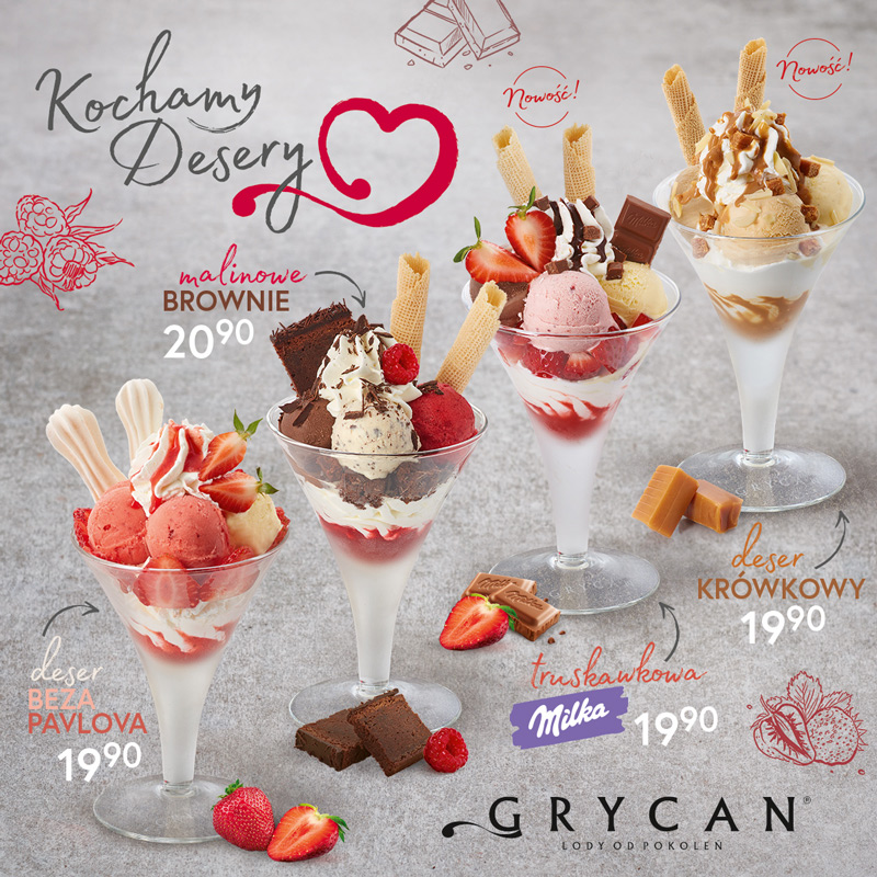Nowa, limitowana edycja deserów w Grycan!