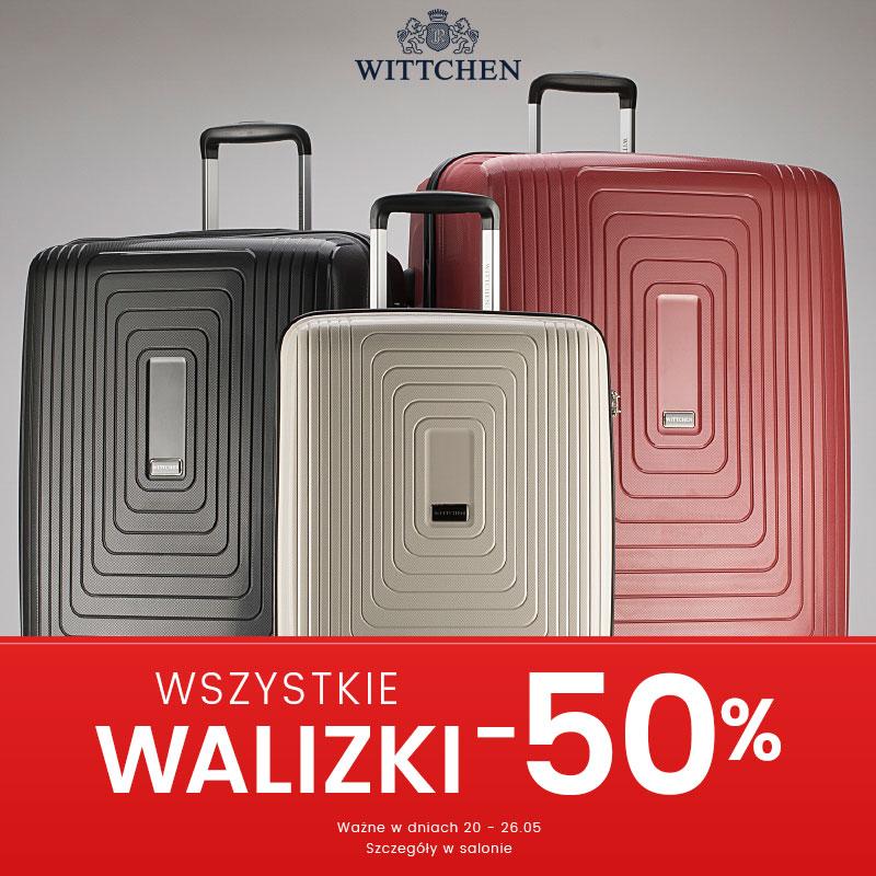 Wszystkie walizki do -50% w Wittchen
