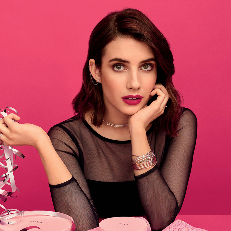 New Christmas TOUS campaign with Emma Roberts