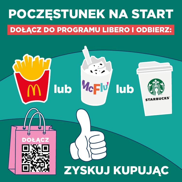 Dołącz doprogramu Libero idaj się zaprosić nadarmowy poczęstunek!