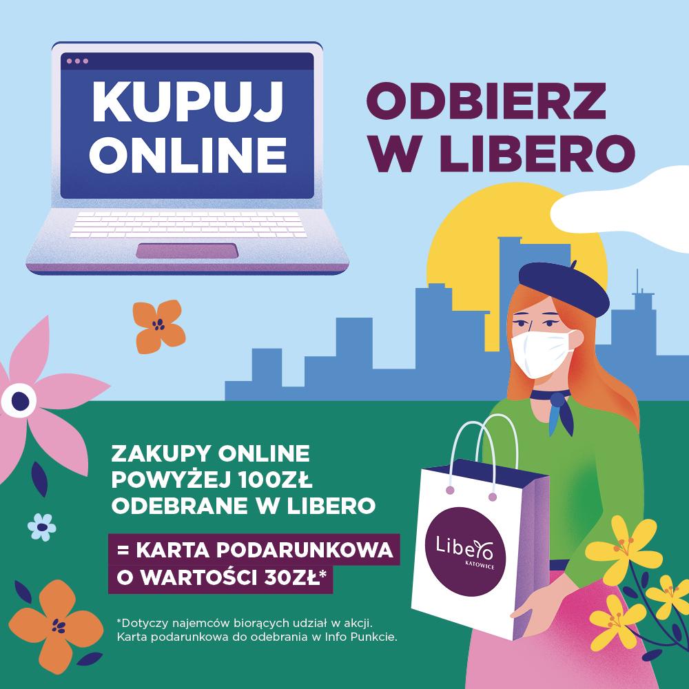 Kupuj online, odbierz wLibero. Zgarnij kartę podarunkową owartości 30zł