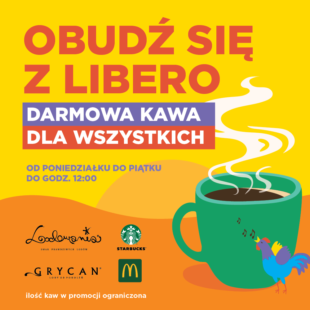 Bezpłatna kawa odLibero oporanku!